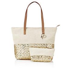 Pia Rossini Delfino Summer Tote Bag and Make Up Pouch Set