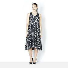Yong Kim Sleeveless Jacquard Stretch Dress