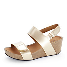 Clarks Auriel Fin Adjustable Wedge Sandal
