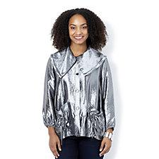 MarlaWynne Metallic Drawstring Detail Jacket