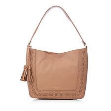 Tignanello Dreamweaver Leather Hobo Bag with Woven Details