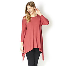 Join Clothes Dip Side Scoop Neck Tunic