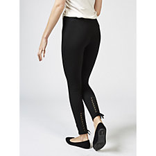 Women with Control Leggings with Lace and Eyelet Detail