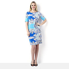 Tiana B Elbow Sleeve Printed Dress