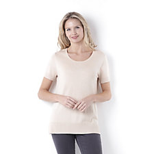 Short Sleeve Scoop Neck Tunic by Michele Hope