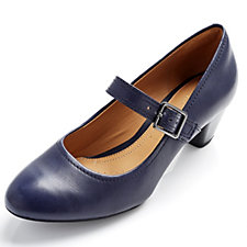 Clarks Denny Date Leather Mary Jane with Ortholite Footbed Wide Fit