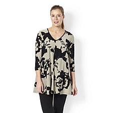 Yong Kim Jersey Printed Tunic with Front Pocket Detail