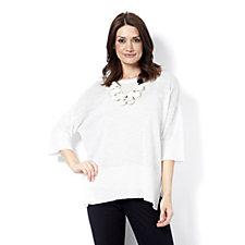 MarlaWynne Kimono Sleeve Sweater with Detachable Cami