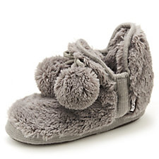 Muk Luks Slipper Boot with Pom Pom