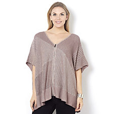 162513 - Marla Wynne Mixed Stitch Drama Cardigan