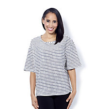 Kim & Co French Terry Stripe Relaxed Top
