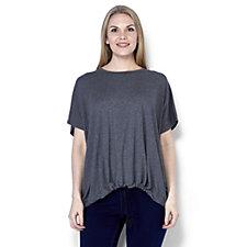MarlaWynne Oversized Drawstring Jersey Top