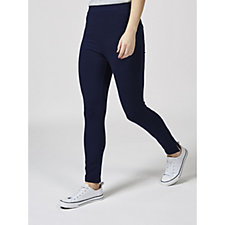 Weekend French Terry Crop Leggings with Slits by Susan Graver