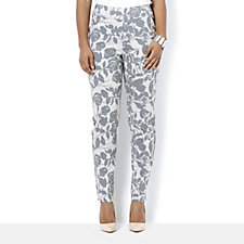 MarlaWynne Printed Flatter Fit Straight Leg Trouser