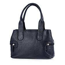 164913 - Amanda Lamb Leather Triple Pocket Organiser Grab Bag