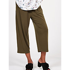 Kim & Co Brazil Knit Cropped Wellness Trousers with Pockets