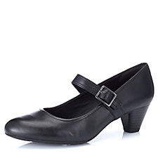 Clarks Denny Date Leather Mary Jane with Ortholite Footbed Extra Wide Fit