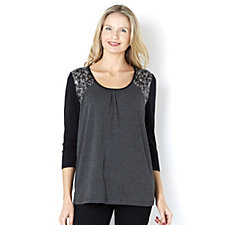 Together Sequin Shoulder Detail Top
