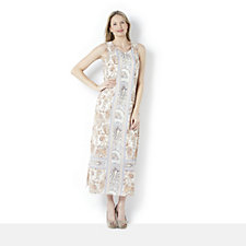 C. Wonder Sleeveless Printed Maxi Dress