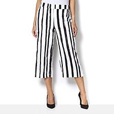 160614 - Andrew Yu Paintbrush Stripe Gaucho Trousers