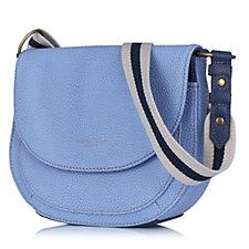 Tignanello Explorer Leather Saddle Bag with Webbing Strap & RFID Protection