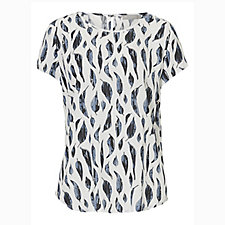 Betty & Co Cap Sleeve Leaf Print Top