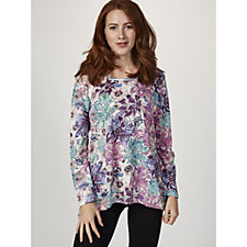 Artscapes Floral Burst Dipped Hem Tunic