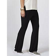 WynneLayers Matt Jersey Relaxed Flare Pull On Trousers