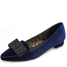 Ravel Liceu V&A Collection Velvet Shoe with Bow Trim