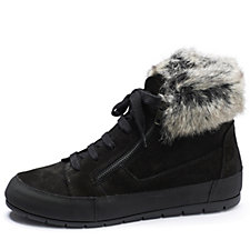 Manas Suede Trainer with Faux Fur Cuff