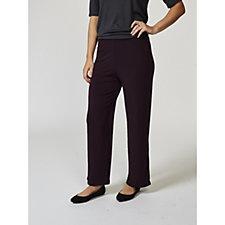 Kim & Co Brazil Knit Elastic Waistband Relaxed Trousers Petite