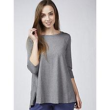 170214 - Anybody 3/4 Flared Sleeves Curved Hi Low Hem Swing T-Shirt