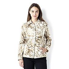 Isaac Mizrahi Live Floral Print Knit Jacket