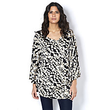 Antthony Designs Printed Kaftan with Asymmetric Neckline & Hem