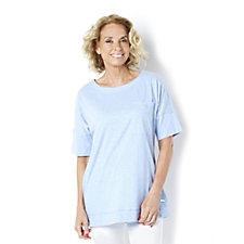 Isaac Mizrahi Live Soho Double Cuffed Pocket T-Shirt