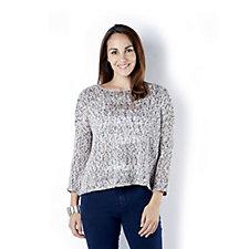 MarlaWynne Space Dye Textured Sweater