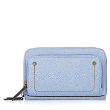 Tignanello Explorer Leather Double Zip Wallet with RFID Protection