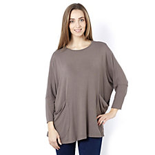 Join Clothes Light Weight Jersey Tunic with Draped Side Pockets