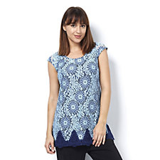 Isaac Mizrahi Live Extended Shoulder Lace Tunic