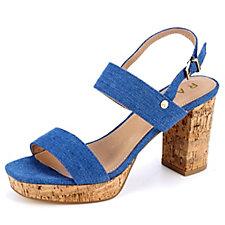 Ravel Parker Fashion Platform Sandal with Cork Heel