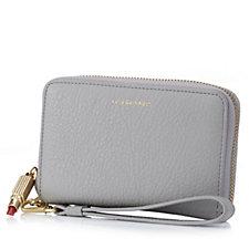 Lulu Guinness Soft Grain Leather Tech Wallet