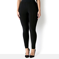 Attitudes by Renee Solid Jersey Skinny Trouser Flat Waistband