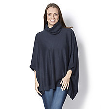 Diane Gilman Quad Blend Cowl Neck Poncho Style Sweater
