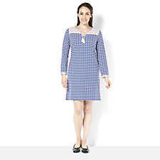 C. Wonder Long Sleeve Tunic Dress with Embroidery Detail