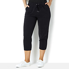 159416 - Isaac Mizrahi Live Soho Cropped Drawstring Relaxed Trousers