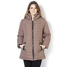 Dennis Basso Quilted Jacket with Pillow Collar