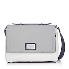 Tignanello Gracious Pebble Leather Triple Compartment Crossbody Bag