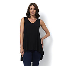 Attitudes By Renee Sleeveless Pleat Back Jersey Tunic