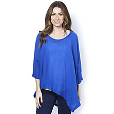 Join Clothes Soft Cotton Asymmetric Hem Tunic