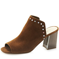 Marc Fisher Dalilah Suede Slip On Shoe with Studded Heel